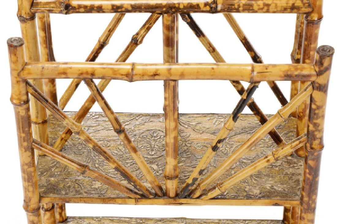Aesthetic Movement Bamboo Newspaper Rack - 3