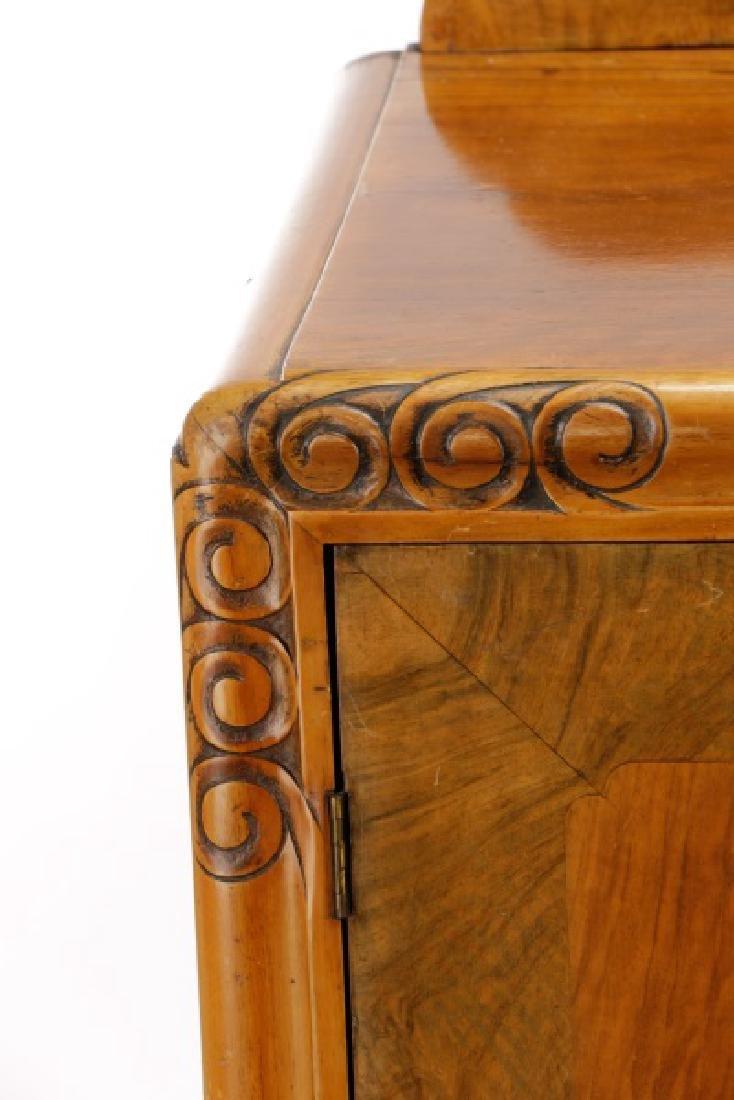 American Art Deco Walnut Sideboard - 3