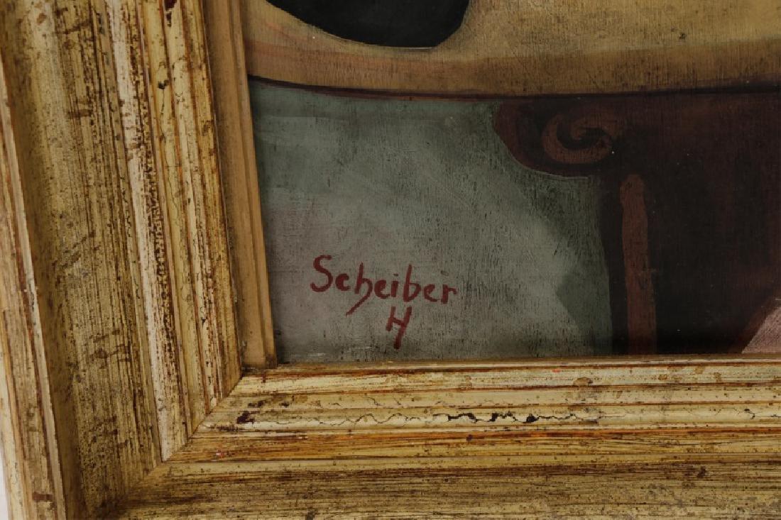 "Circle of Hugo Scheiber ""At the Cafe"", O/B Signed - 2"