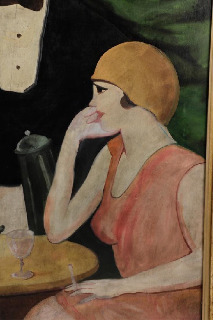 "Circle of Hugo Scheiber ""At the Cafe"", O/B Signed - 3"