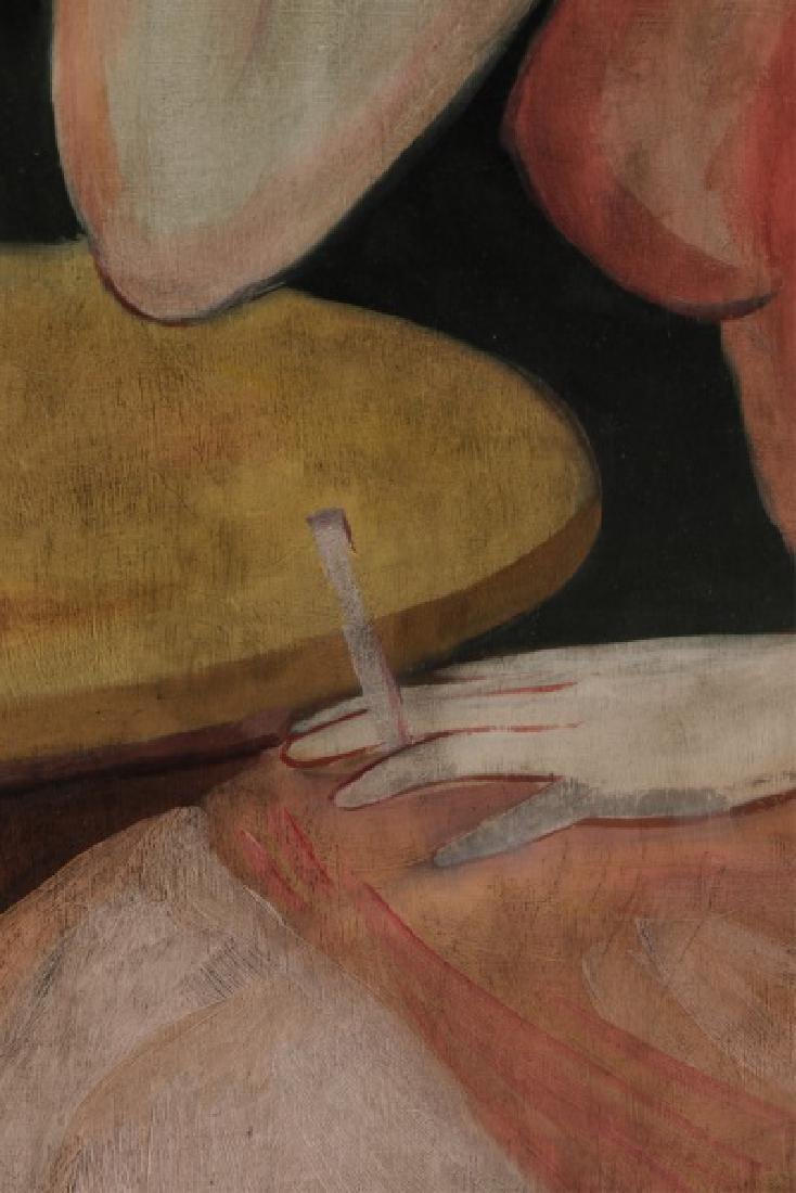 "Circle of Hugo Scheiber ""At the Cafe"", O/B Signed - 5"