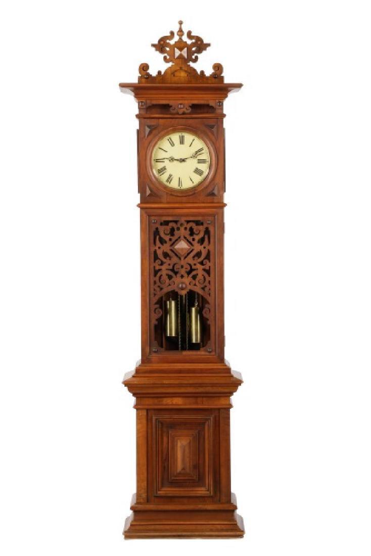 Lorenz Furtwangler & Sohne Walnut Tall Case Clock
