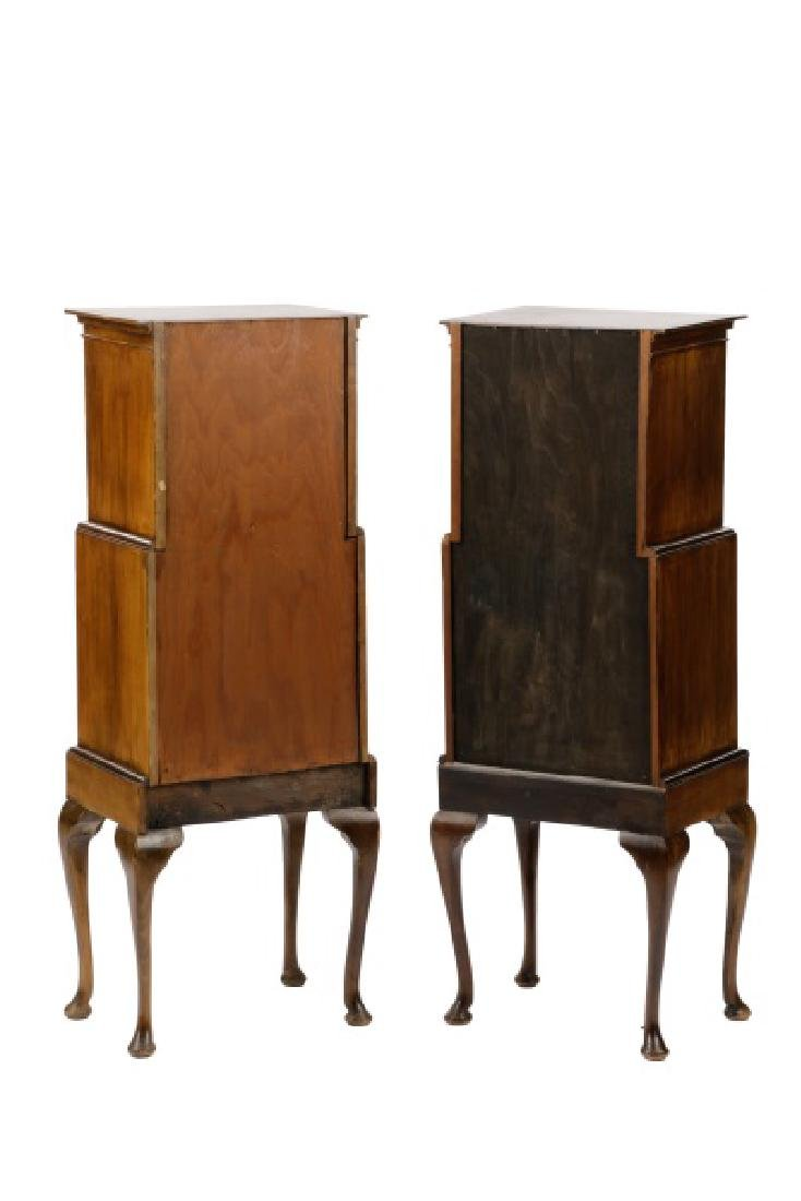Pair, Diminutive Queen Anne Chests on Stands - 8