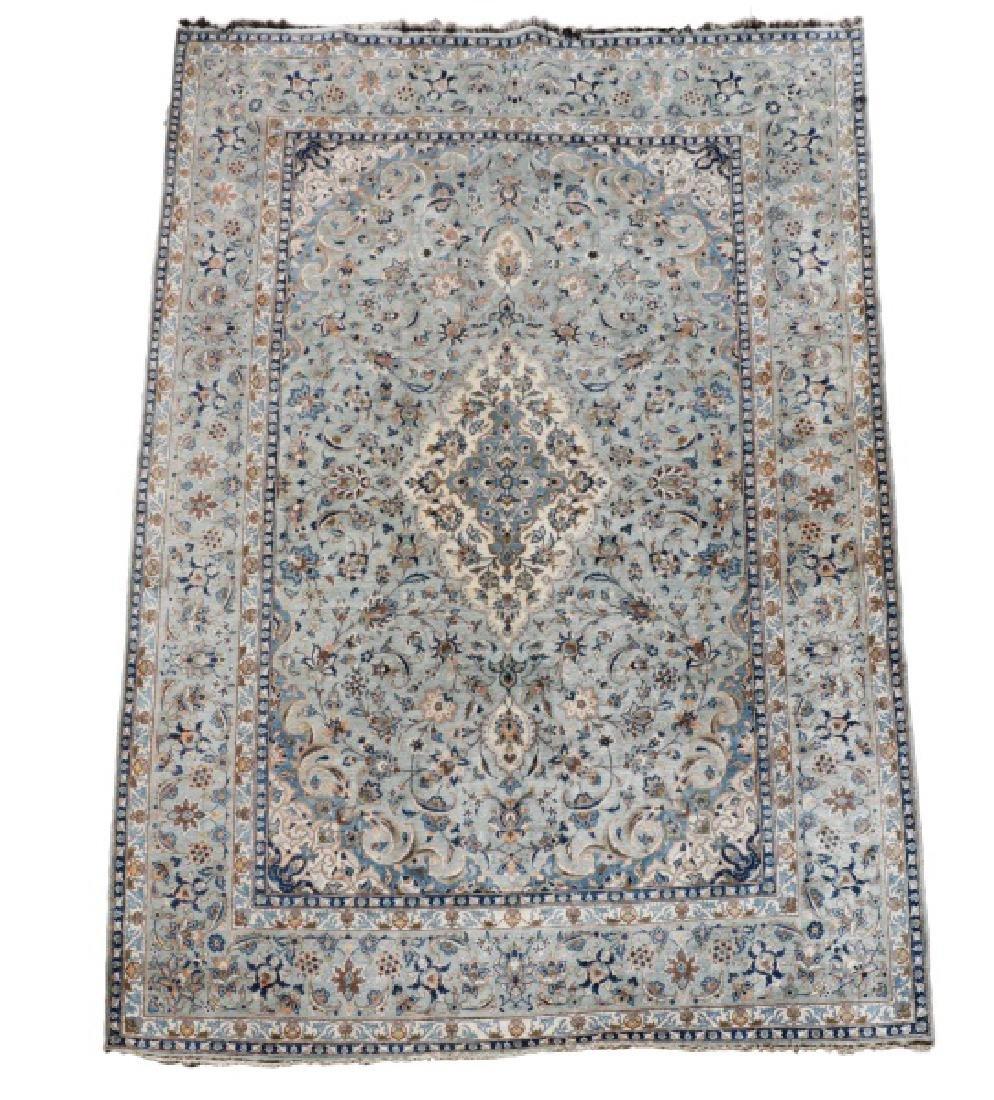 "Hand Woven Persian Kashan, 9' 7"" x 13' 7"""