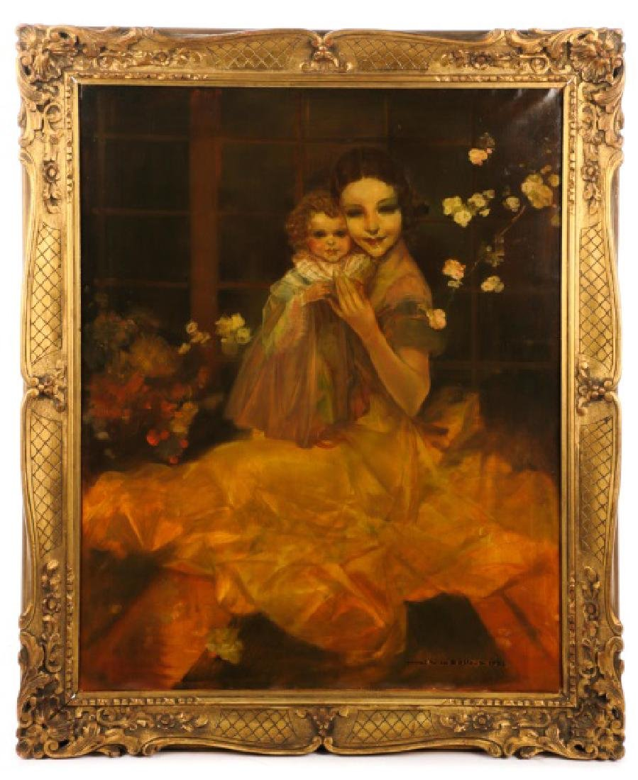 "Van Belle ""Sisters with Blossom""-1932, Signed"