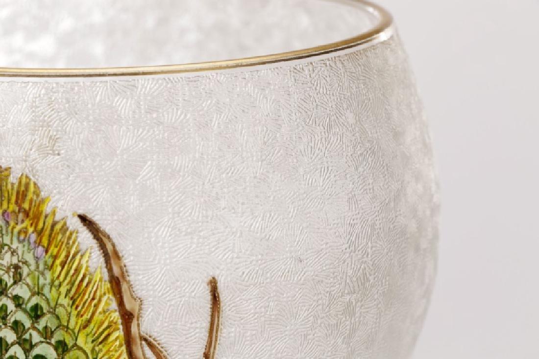 Pair of Legras-Mont Joye Enameled Glass Vases - 3