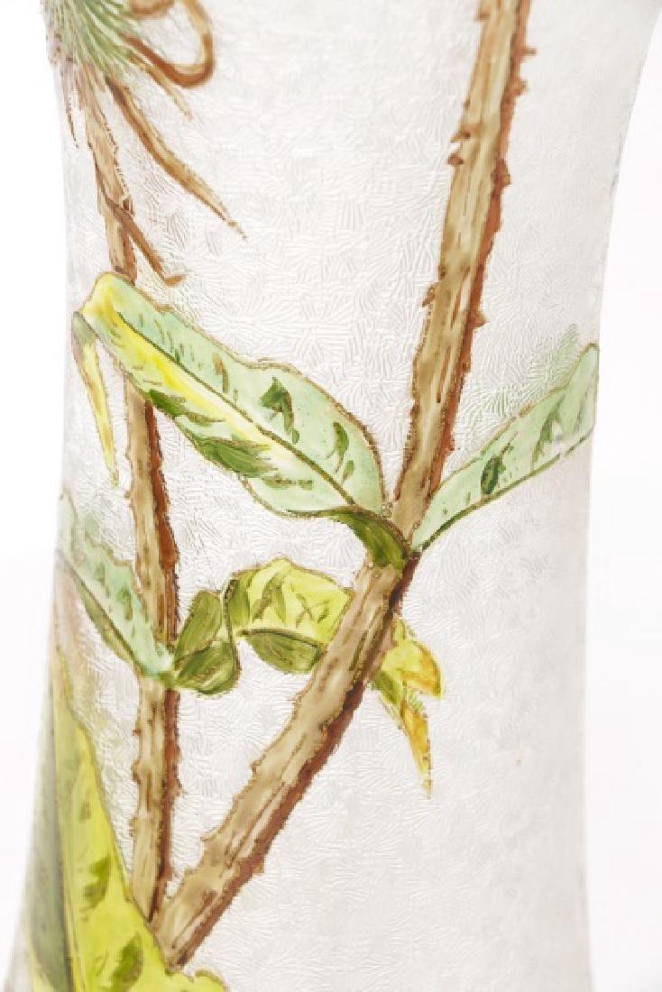 Pair of Legras-Mont Joye Enameled Glass Vases - 4