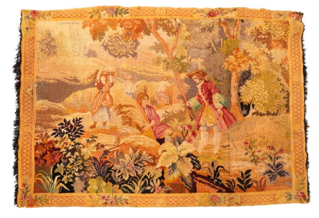 French Pastoral Wall Hanging Tapestry