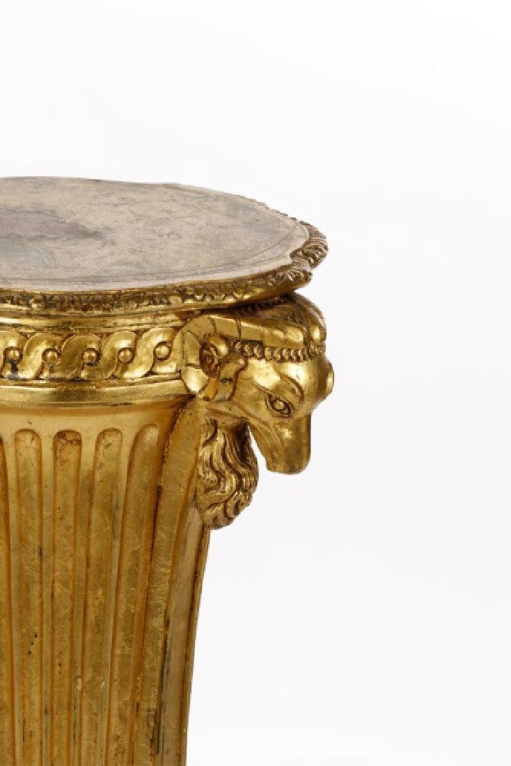 French Neoclassical Style Giltwood Pedestal - 2