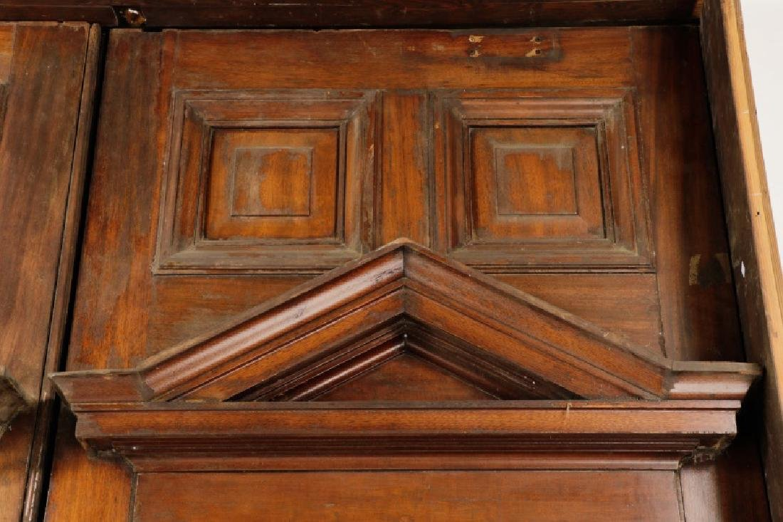 Pair of Monumental Georgian Carved Wood Doors - 4