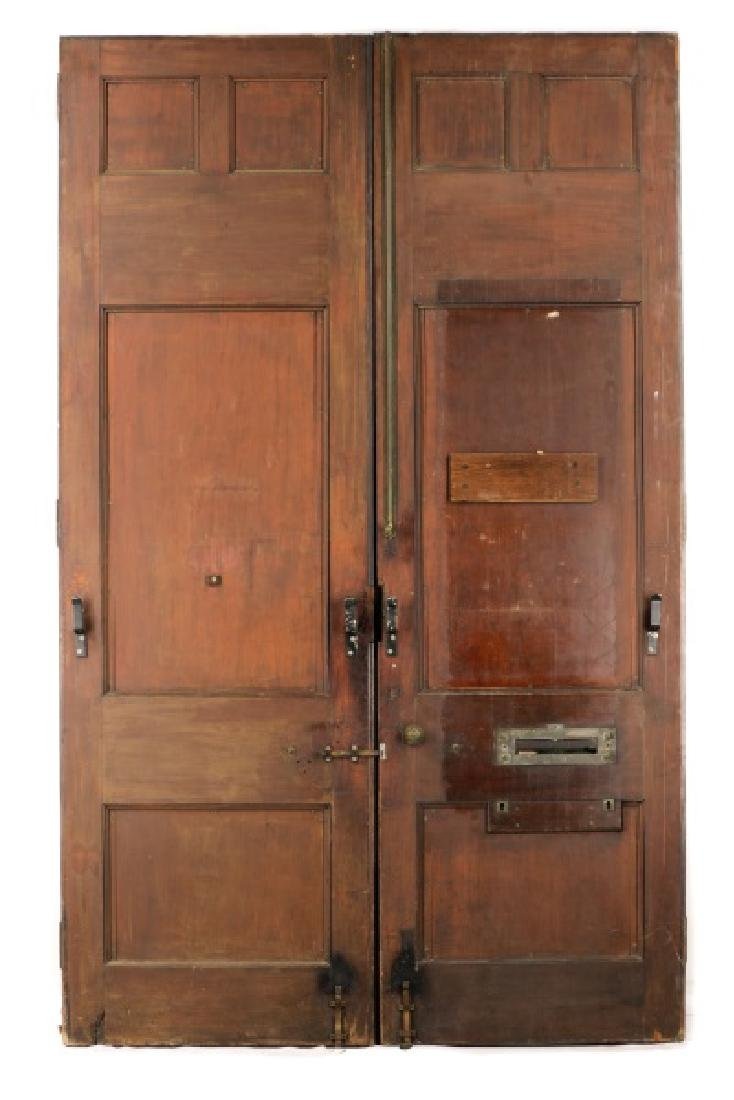 Pair of Monumental Georgian Carved Wood Doors - 6