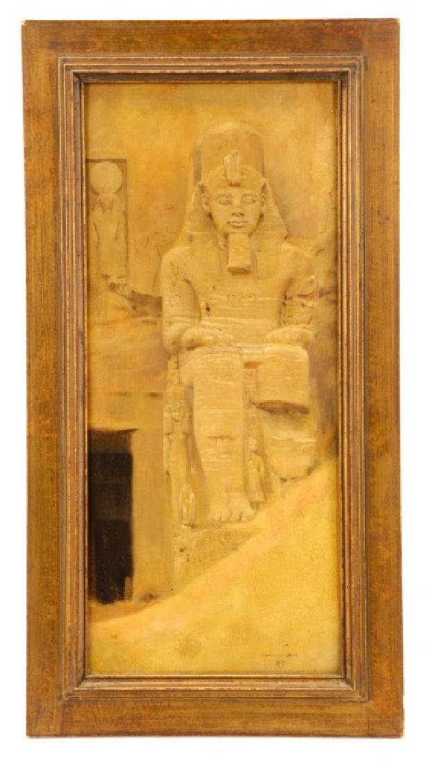 "Joseph Lindon Smith, ""Pharaoh"", Oil on Panel"