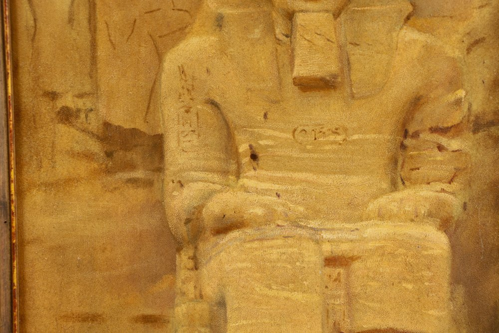 "Joseph Lindon Smith, ""Pharaoh"", Oil on Panel - 3"