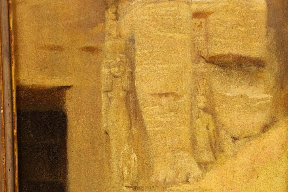 "Joseph Lindon Smith, ""Pharaoh"", Oil on Panel - 4"