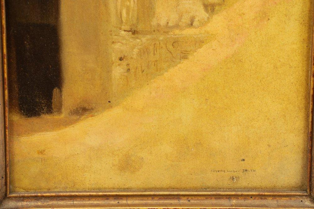 "Joseph Lindon Smith, ""Pharaoh"", Oil on Panel - 5"