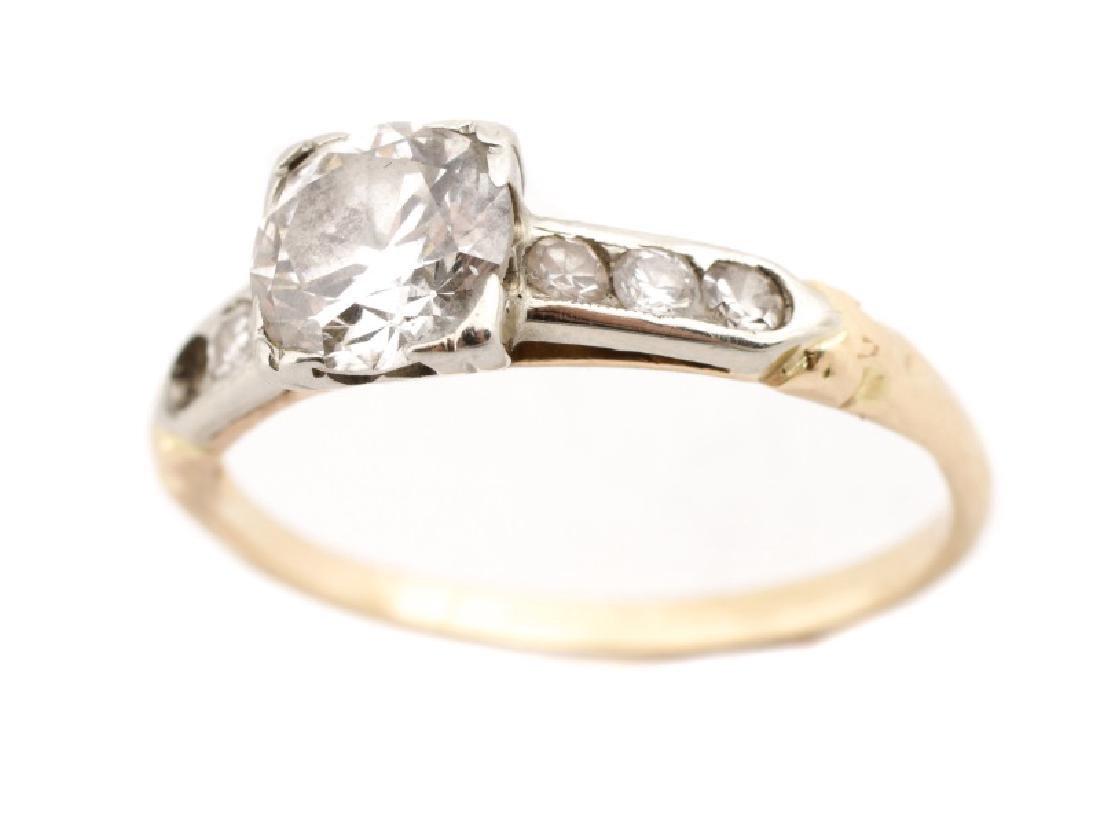 14k YG, Platinum, and Diamond Wedding Band Set - 3