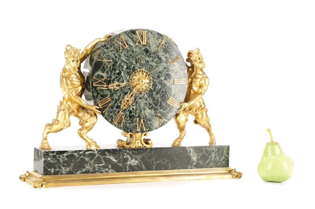 E. F. Caldwell & Co. Ormolu Satyr Mantle Clock - 11