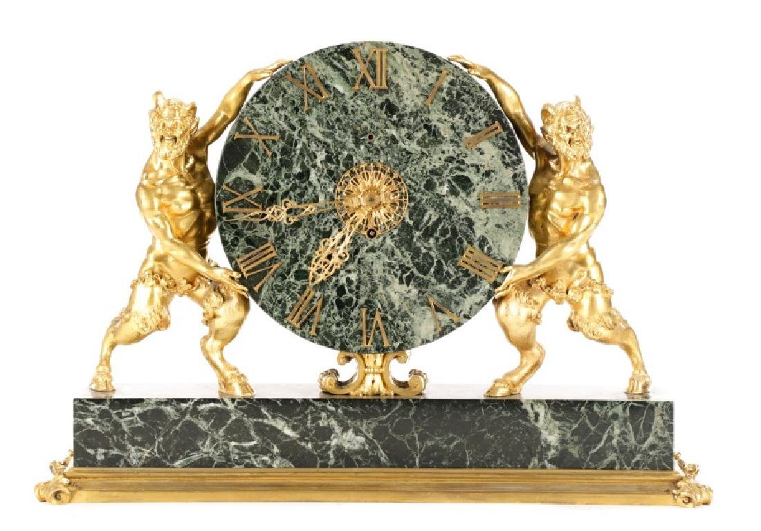 E. F. Caldwell & Co. Ormolu Satyr Mantle Clock