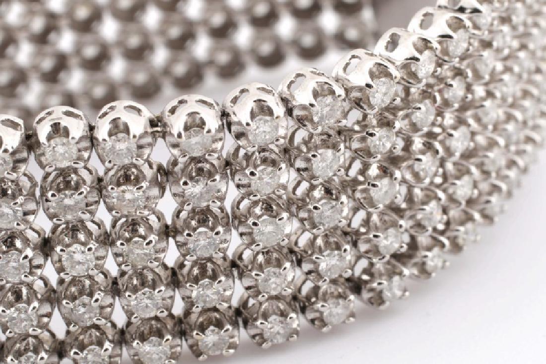 Ladies 14K White Gold and Diamond Bracelet - 2
