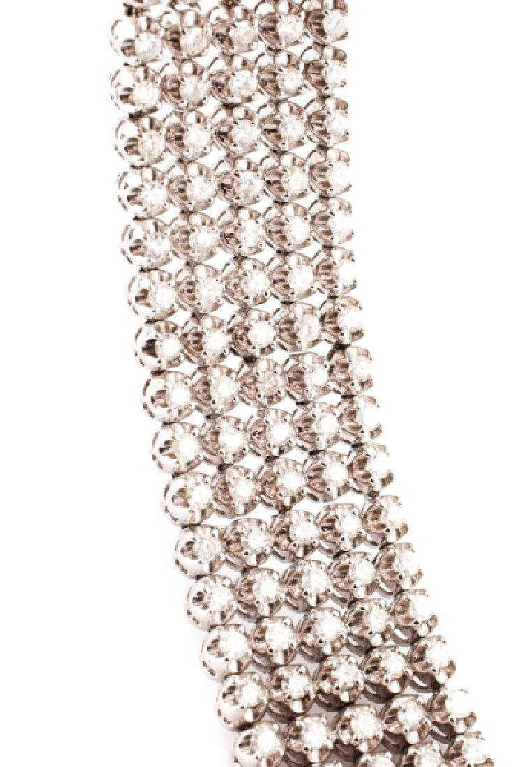 Ladies 14K White Gold and Diamond Bracelet - 3