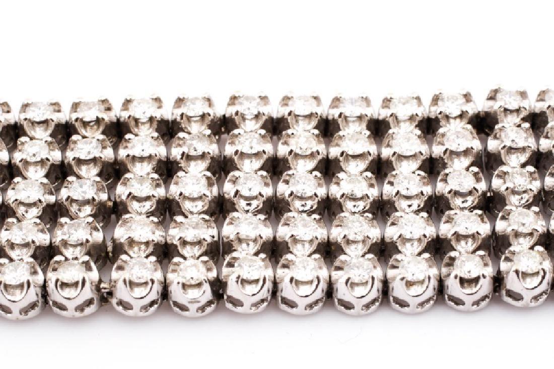 Ladies 14K White Gold and Diamond Bracelet - 4