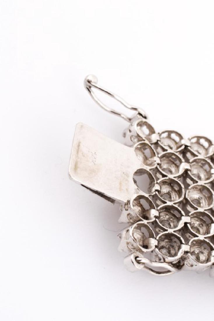 Ladies 14K White Gold and Diamond Bracelet - 5