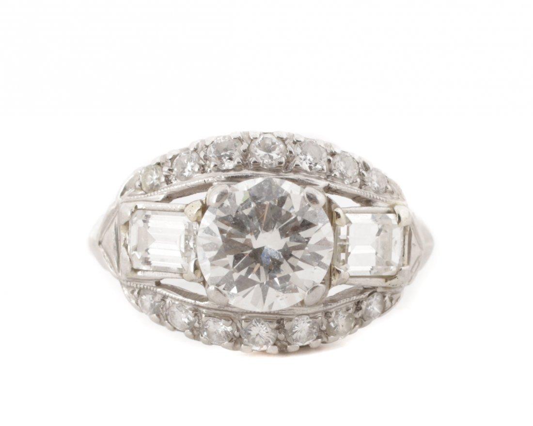 Ladies 1930's Platinum & Diamond Ring