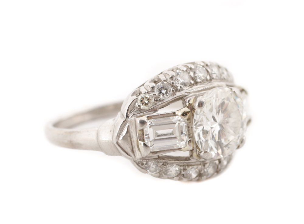 Ladies 1930's Platinum & Diamond Ring - 2