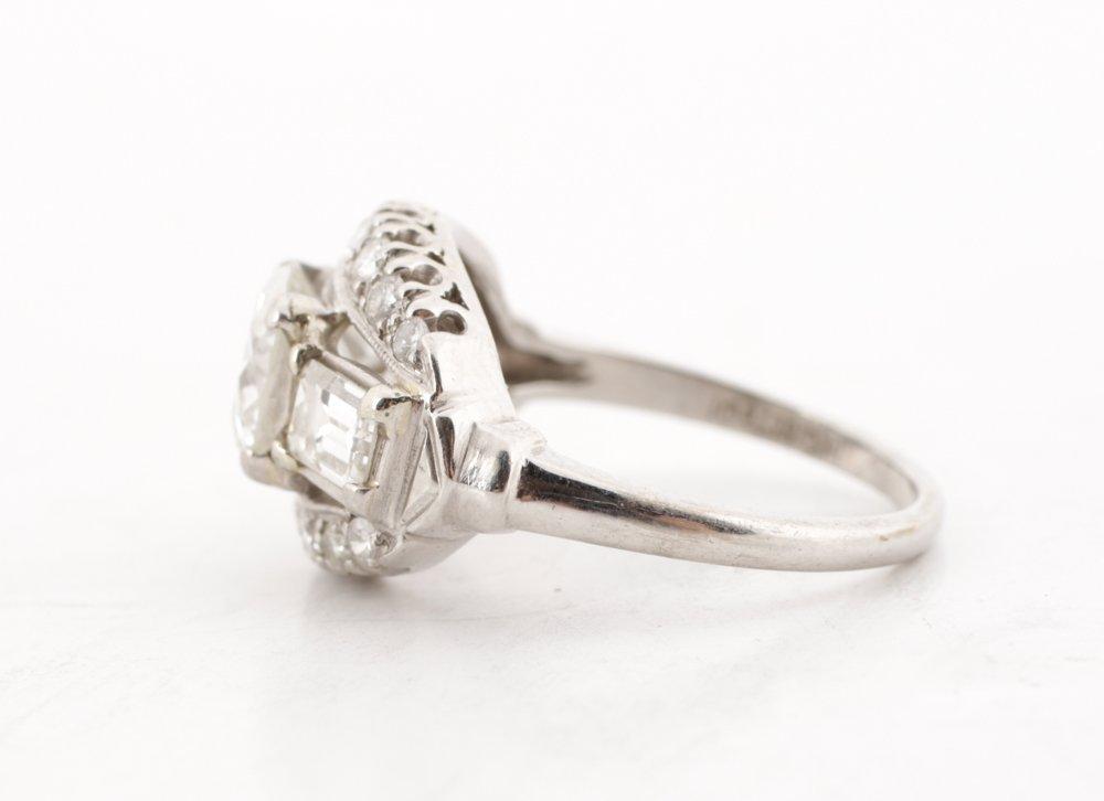 Ladies 1930's Platinum & Diamond Ring - 3
