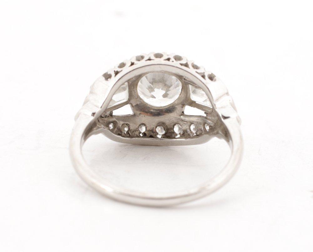 Ladies 1930's Platinum & Diamond Ring - 4