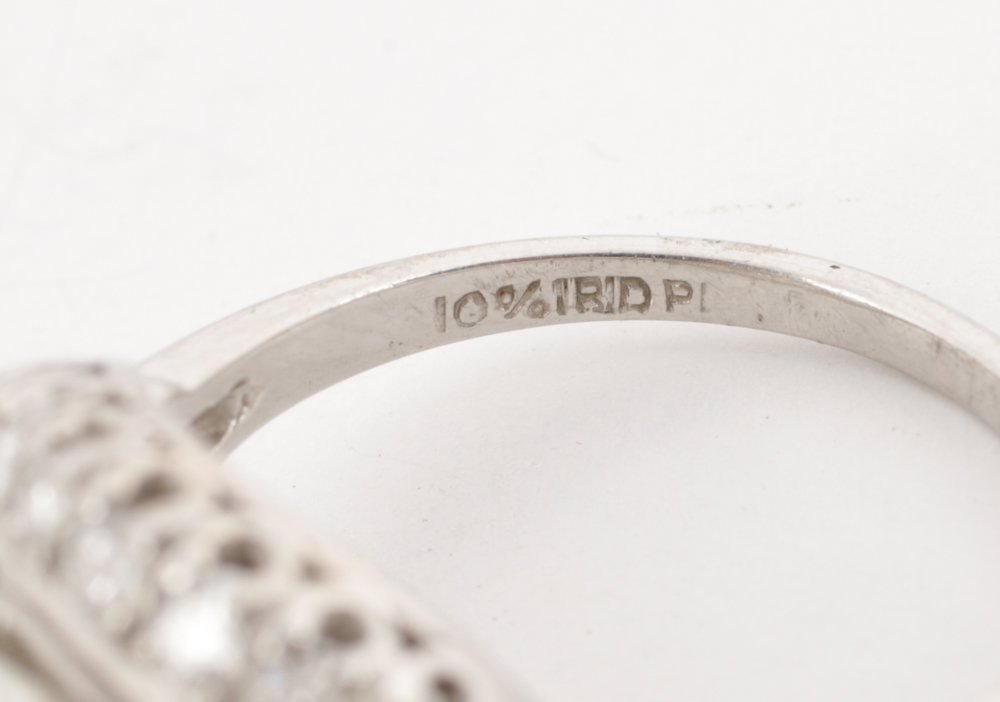 Ladies 1930's Platinum & Diamond Ring - 5