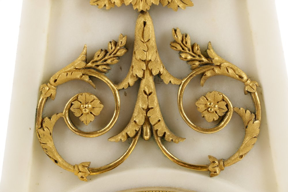French Neoclassical Style Ormolu Marble Clock - 3