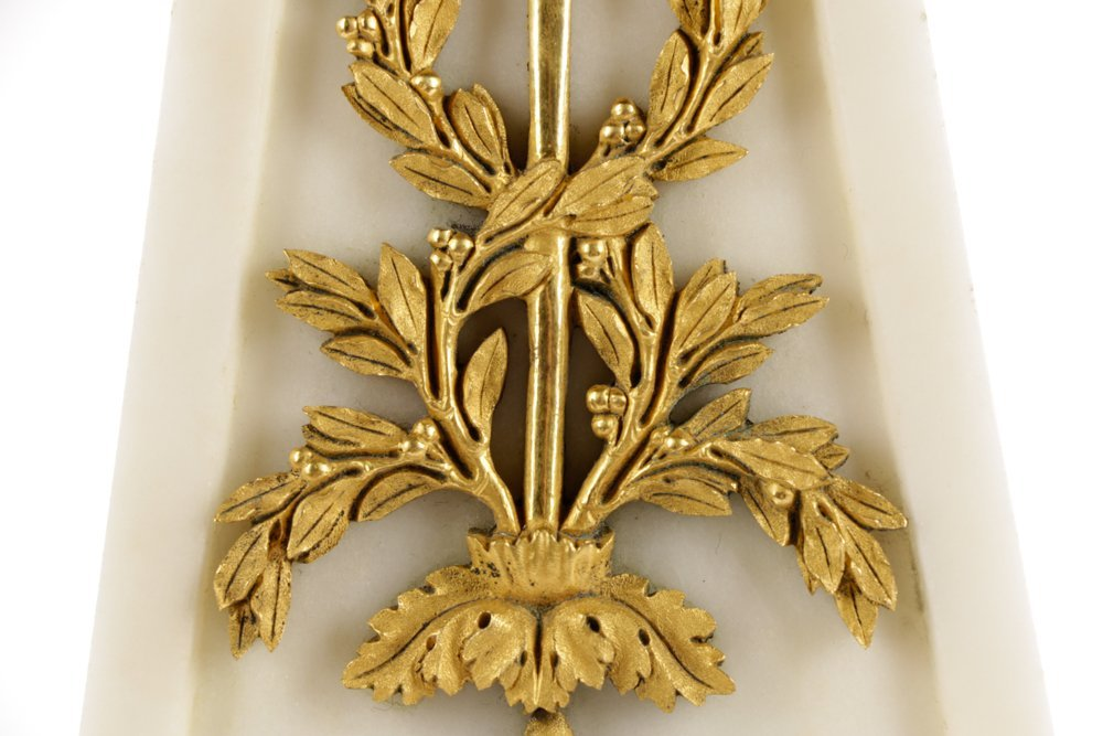 French Neoclassical Style Ormolu Marble Clock - 4