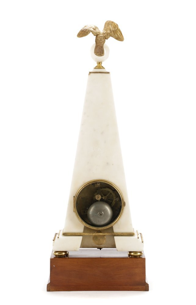 French Neoclassical Style Ormolu Marble Clock - 7