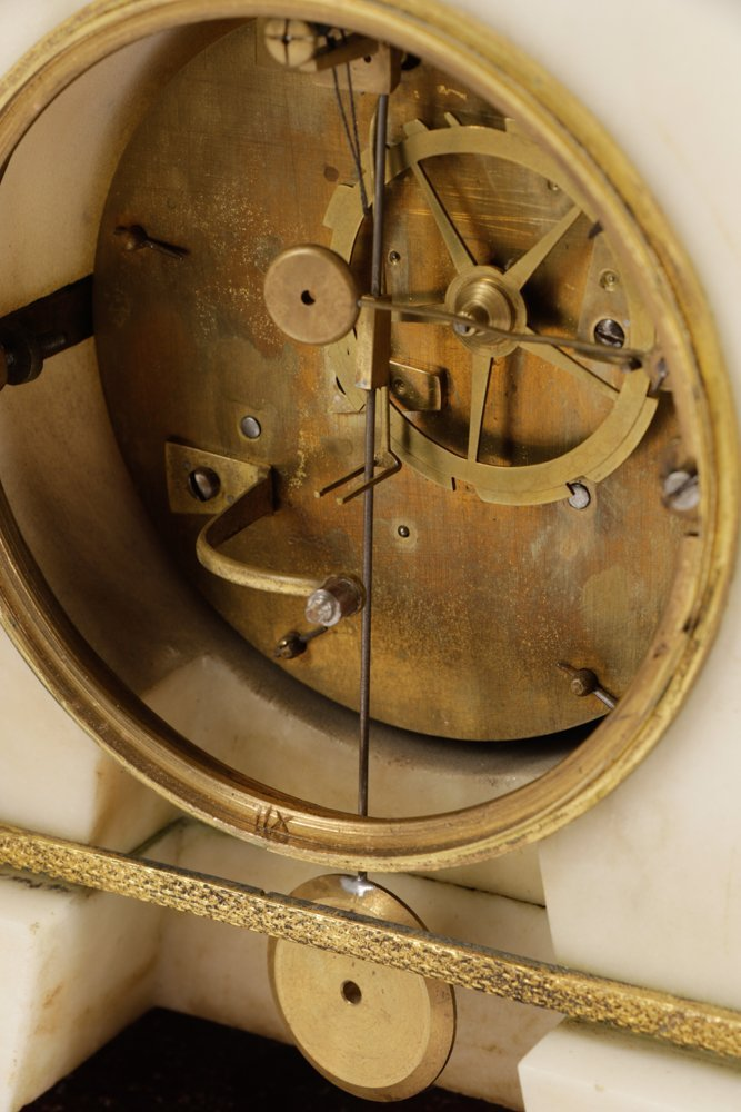 French Neoclassical Style Ormolu Marble Clock - 8