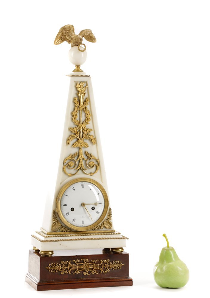 French Neoclassical Style Ormolu Marble Clock - 9