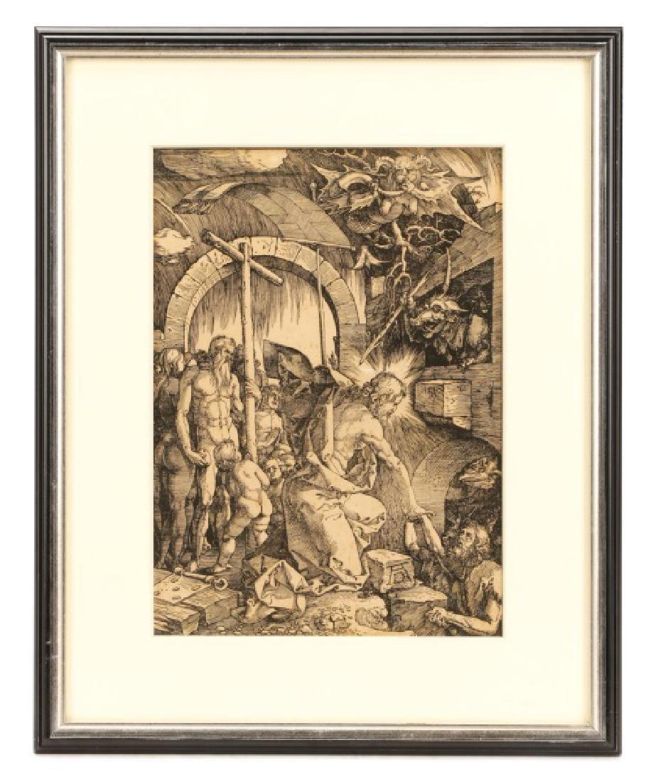 "Albrecht Durer 1510 Woodcut, ""Christ in Limbo"""