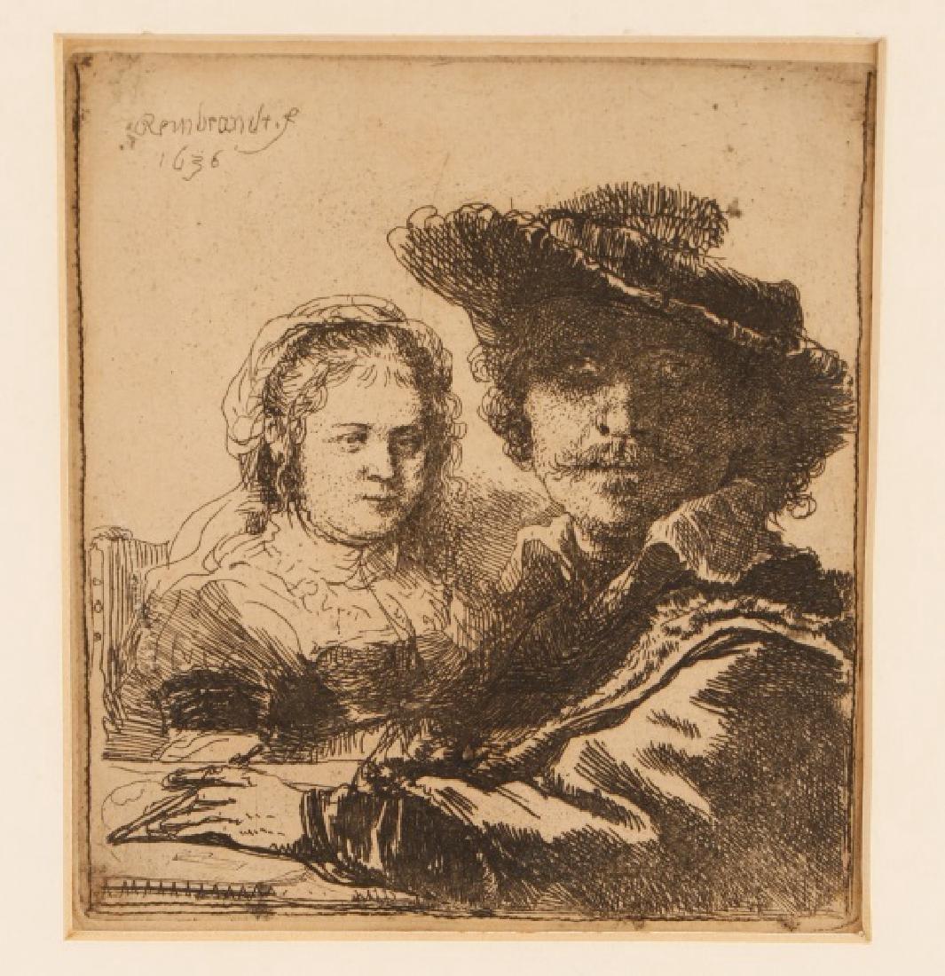 "Rembrandt van Rijn, ""Self Portrait with Saskia"""
