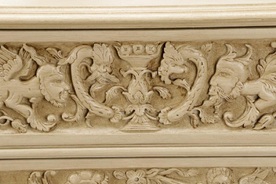 Modern History Renaissance Style Carved Chest - 2