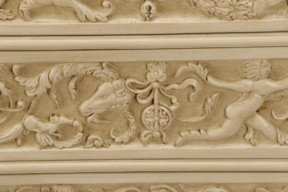 Modern History Renaissance Style Carved Chest - 4
