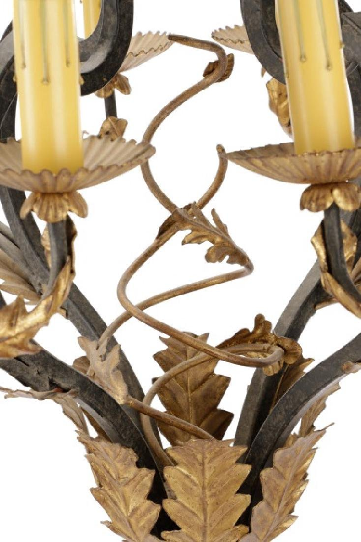 Spanish Colonial Wrought Iron 8-Light Chandelier - 4
