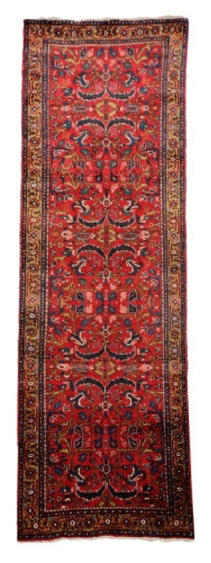 Hand Woven Semi Antique Persian Heriz Runner