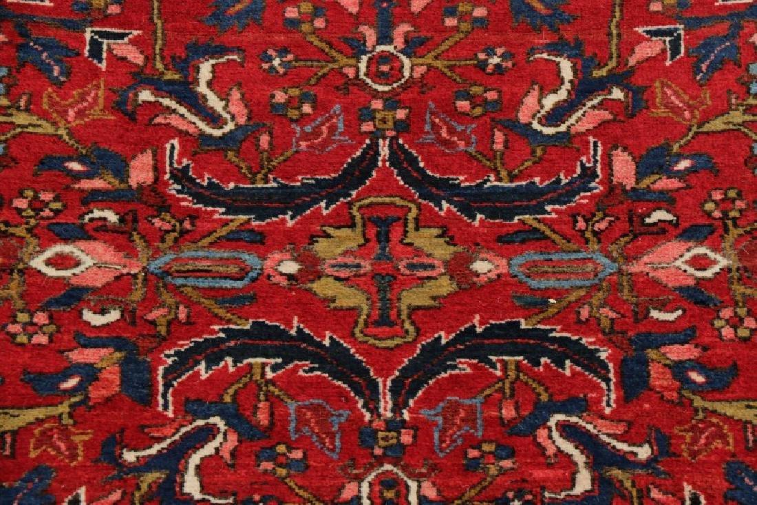 Hand Woven Semi Antique Persian Heriz Runner - 2