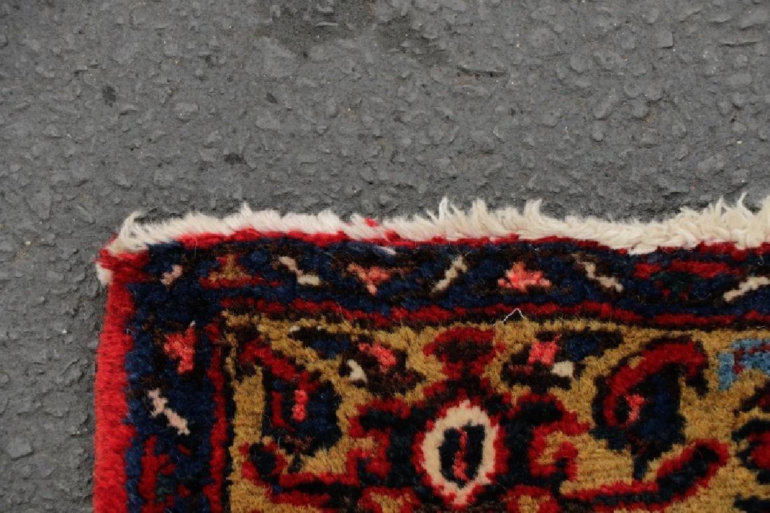 Hand Woven Semi Antique Persian Heriz Runner - 4