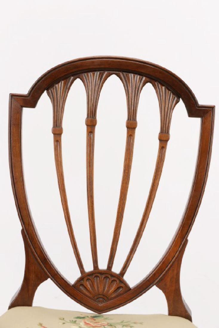 12 Mahogany Hepplewhite Style Dining Chairs - 3