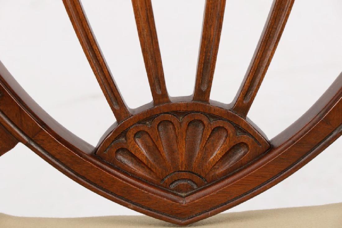 12 Mahogany Hepplewhite Style Dining Chairs - 4
