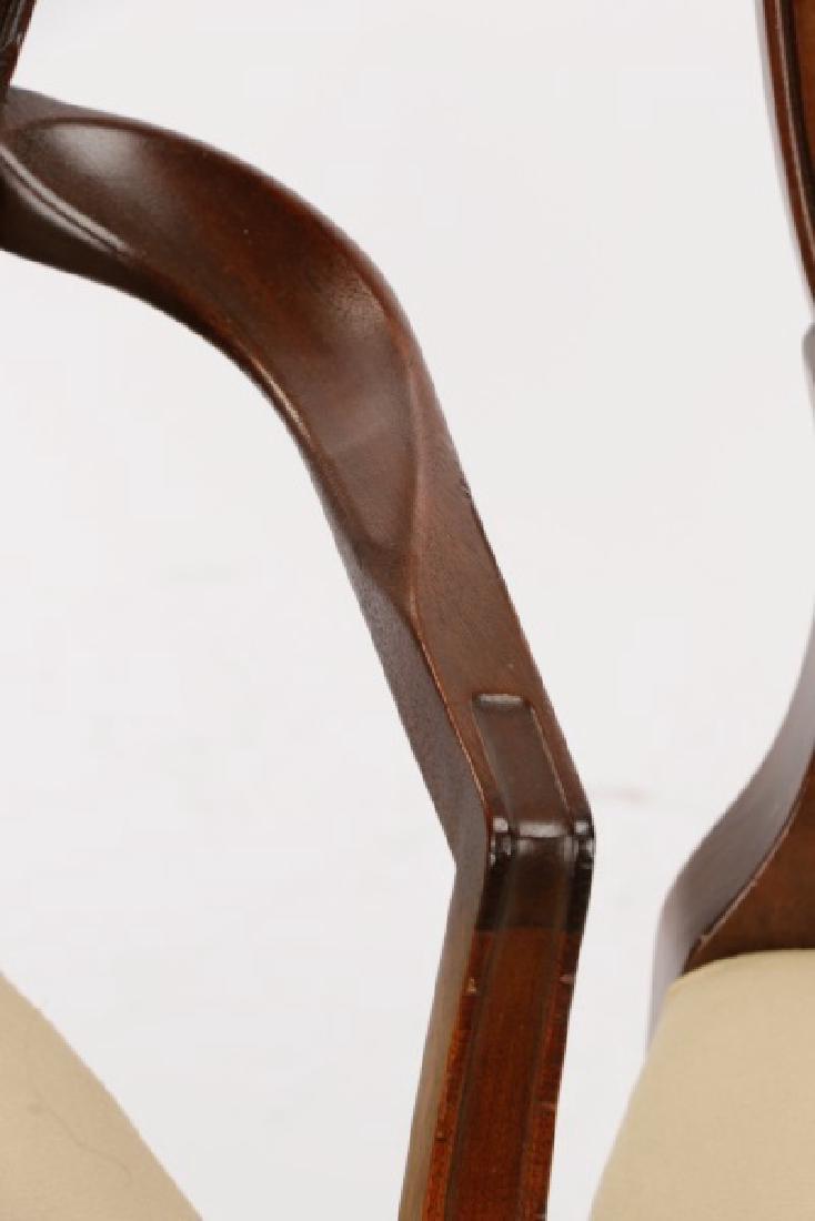 12 Mahogany Hepplewhite Style Dining Chairs - 5