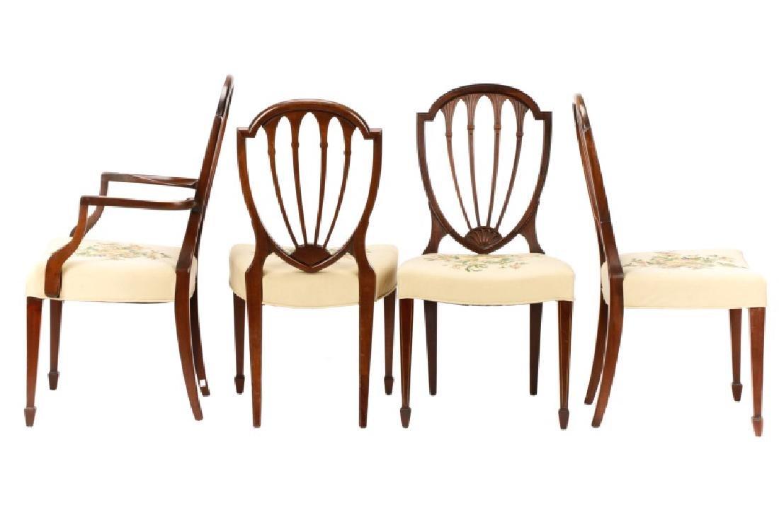 12 Mahogany Hepplewhite Style Dining Chairs - 7