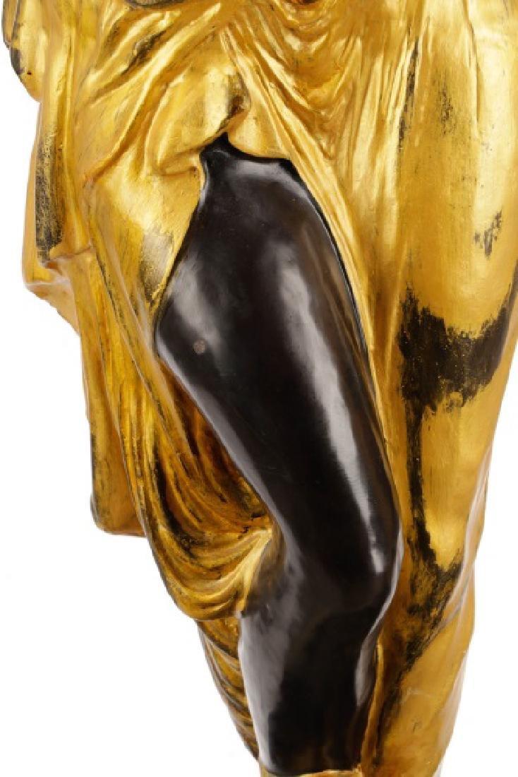 Pair, Cast Bronze Blackamoors on Marble Bases - 5