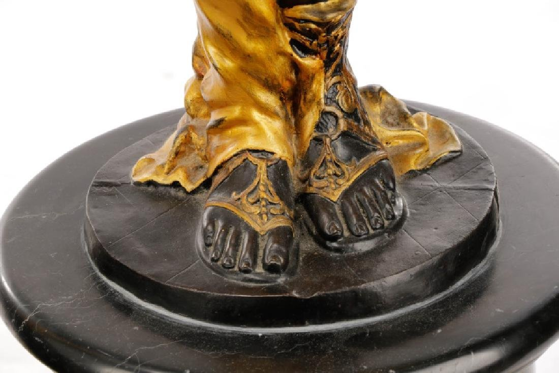Pair, Cast Bronze Blackamoors on Marble Bases - 7